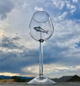 shark wine glass