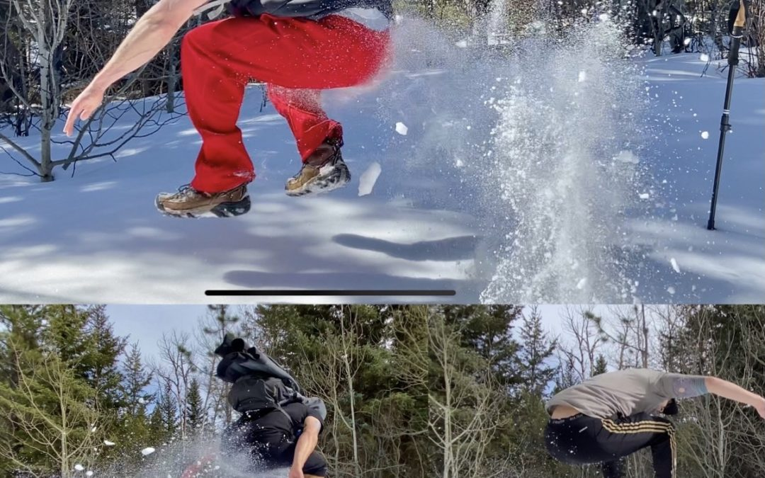 Snow Broad Jump Challenge
